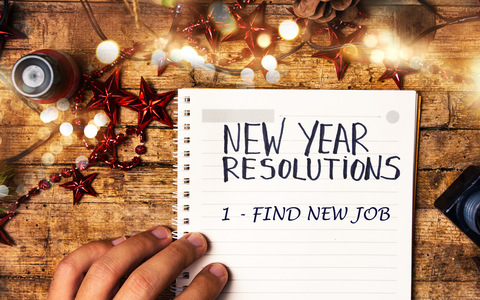 New Years Resolutions   Find New Job